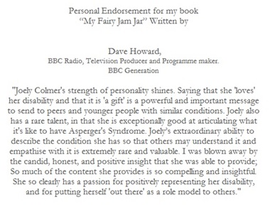 Dave Howard Book Endorsement